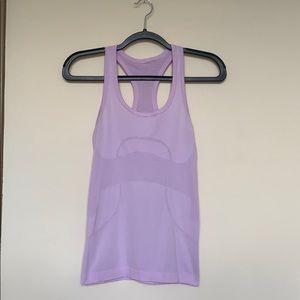 sz 4 lululemon lavender swiftly racerback tank